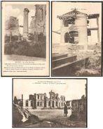 """Bétheny Lot 3 CPA : Monument  / Gare / Mairie écoles. Guerre En Champagne, WW1 Texte """" Froid, Dirigeants Lâches"""" - Bétheny"""