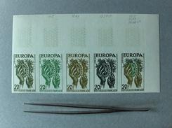 EUROPA CEPT 1957 FRANCIA  FRANCE NON DENTELLATI PROVA COLORE 5 VAL DA 20 FR ND NUOVI NEW - Europa-CEPT