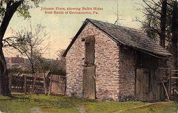 USA - Johnson Place Showing Bullet Holes From Battle Of Germantown - Etats-Unis