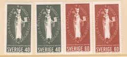 UPPSALA CHURCH HISTORY RELIGION BISHOP SEAL SWEDEN SUEDE SCHWEDEN 1964 MI 517 518  MNH Slania - Christianity