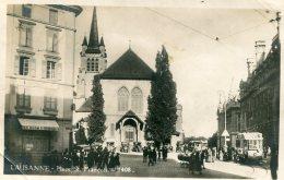 SWITZERLAND (?) -  Lausanne  - Place St Francois - Good Tram Etc 1925 - LU Lucerne