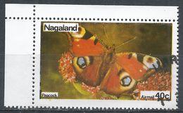 Nagaland (Inde). #B (U) Peacock, Butterfly, Papillon - Inde