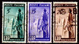 Italia-F01748 - 1949 - Sassone N. 601/603 (o) Used - Senza Difetti Occulti. - 6. 1946-.. Repubblica