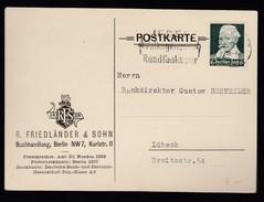 DR Firmen-Postkarte Buchhandlung Bankdirektor 1935 Hausham Nach Regensburg K365 - Deutschland