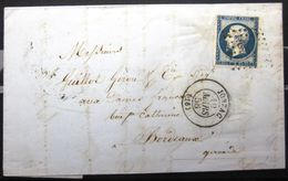 PC 1582 + Cachet Type 15  --  JONZAC  --  CHARENTE INF.  --  LAC  --  1856 - Marcophilie (Lettres)
