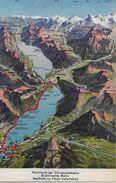 INTERLAKEN → Rechtsufrige Thunerseebahn, Panoramakarte, Ca.1910 - BE Berne