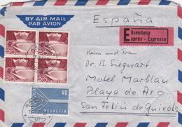 Eilbrief Von Aarau Nach Spanien (br2149) - Covers & Documents