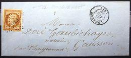 PC 1769 Sur 13A + Cachet Type 15 + T22 Plouguenast Au Verso  --  LOUDEAC  --  COTES DU NORD  --  LAC  --  1859 - 1849-1876: Periodo Classico