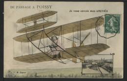 78 POISSY - De Passage à Poissy , Je Vous Envoie Mes AMITIES - Poissy