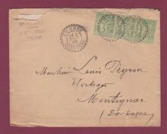 Cachet Perlé - 171217 -  5c Sage X3 Oblitération Perlée Sainte ORSE DORDOGNE En 1900 - Postmark Collection (Covers)