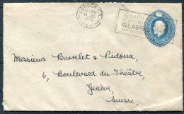 1938 GB Stationery Cover London - Geneva, Switzerland. Empire Exhibition Glasgow - 1902-1951 (Kings)