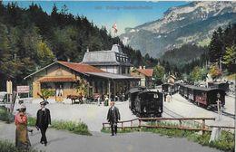 BRÜNIG STATION → Mehrere Stehende Dampfzüge Mit Touristen, Ca.1910 - BE Berne