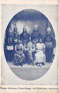 USA - Troupe Indienne - Peaux Rouge - Chef Mykalowa Américain - Indians - Etats-Unis