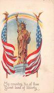 USA - My Country Sweet Land Of Liberty - Statue Of Liberty - Illustration - Etats-Unis