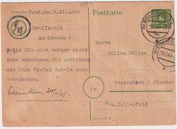"""SBZ, Mecklenburg, Bedarfs-GA 1945, Klar """" Greifswald"""" , #8789 - Zona Soviética"""