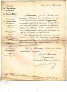 Attribution D'Une Mèdaille D'Argent Par L'EMPEREUR Pour Dèvouement Pendant L'èpidèmie De Cholèra De 1854 - Ex-libris