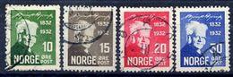 NORWAY 1932 Bjørnson Centenary Used.  Michel 163-66 - Norway