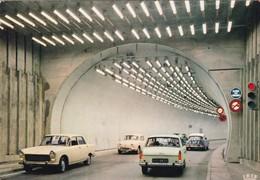 Chamonix. Tunnel Du Mont-Blanc. Automobiles Citroën DS, Peugeot 404, Renault Dauphine. - Chamonix-Mont-Blanc