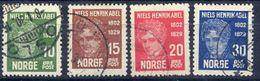 NORWAY 1929 Abel Centenary Used.  Michel 150-53 - Norway