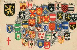 Provinces Du Brabant Flamand Et Du Brabant Wallon (Armoiries De Gammerages, Dilbeek, Quenast, Evere, Montaigu, Louvain,. - Galmaarden