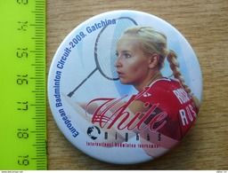 European Badminton Circuit-2009 Gatchina Russia - Button Pin - Badminton