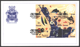 NEW ZEALAND STAMPS, FDC 05 AUG 2009, SET OF 3, TIKI TOUR - FDC