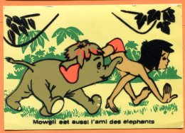 NOV437, Livre De La Jungle, Mowgli, Elephant, Relief, 3, GF, Circulée Sous Enveloppe - Non Classificati