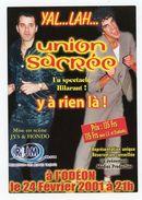 Carte Pub - UNION SACRÉE À L'ODEON - JYS ET HONDO (FEV. 2001) - Publicité