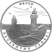 AC - DEVEBOYNU LIGHT HOUSE, DATCA LIGHTHOUSE SERIES # 7 COMMEMORATIVE SILVER COIN PROOF - UNCIRCULATED TURKEY, 2017 - Turquia