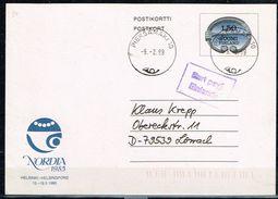 FINLANDE / Entier Postal De 1984 Circulé Le 09/02/1999 Vers Allemagne - Finlande