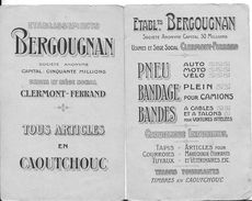 63 -- CLERMONT- FERRAND -  2 CARTES - CAOUTCHOUC BERGOUGNAN -  FABLES LE LIEVRE ET LA TORTUE -  LA POULE AUX OEUFS D OR - Clermont Ferrand
