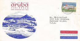 "Netherlands Antilles 1959 Aruba Opening Hotel ""Aruba Caribbean"" Cover - Hotels- Horeca"