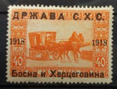 Yugoslavia Kingdom Of SCS 1918 MH Issue For Bosnia And Herzegovina Overprint Landscapes - 1919-1929 Kingdom Of Serbs, Croats And Slovenes