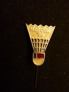 Badminton Europe Cup -1988 - Moscow USSR - Soviet Pin Badge - Badminton