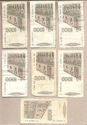 """Italia - Banconote Circolate Da 1000 £ """"Marco Polo"""" Tutti E 6 Decreti + Varietà """"filo Di Sicurezza Cambiato - 1982/1988 - [ 2] 1946-… : Républic"""