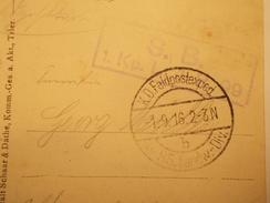 Marcophilie  Cachet Lettre Obliteration - Militaire ALLEMAGNE 1916 (1631) - Allemagne