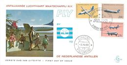 Netherlands Antilles 1968 Curacao Fokker Friendship-500 Friendship-50 Douglas DC-9 ALM FDC Cover - Vliegtuigen