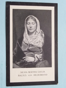 Silvia BERTHA GIULIA - BALTUS VON HILDEBRAND ( Achterkant PRENT Blanco ) - Godsdienst & Esoterisme