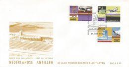 Netherlands Antilles 1975 Aruba Fokker F-18 Douglas DC-9 Boeing 727 FDC Cover - Vliegtuigen