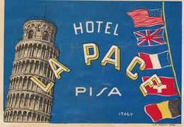 ITALY ITALIA  -  HOTEL LUGAGGE  LABEL - HOTEL LA PACE - PISA - Hotel Labels