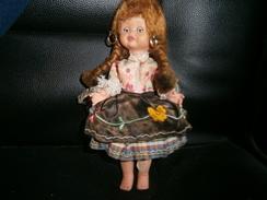 ANCIENNE PETITE POUPEE 20 CM  YEUX MOBILE - Dolls
