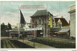 GAND-GENT - Exposition De 1913 - Entrée Du Quartier De La Vieille Flandre - N'a Pas Circulé - Gent
