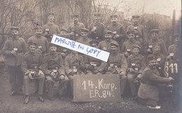 Foto Bier Bierfass Beer 14.Korp. E.R.84 Ersatz Infanterie Regiment 84   Deutsche Soldaten 1.Weltkrieg - Guerre, Militaire