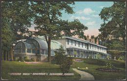 Governor's Residence, Spencer Wood, Quebec, Canada, C.1910 - Walsh Postcard - Québec - La Cité