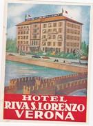 ITALY ITALIA  -  HOTEL LUGAGGE  LABEL - HOTEL RIVA S. LORENZO - VERONA - Hotel Labels