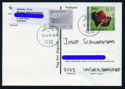 Austria 2013 Circulated Stamped Postcard - Minerals Crystals Gemstones 2005 - Minerals