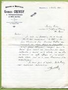 """RANCONNIERES  (52) : """" GRAINS & BESTIAUX  -  Georges CREVISY """"  1932 - France"""