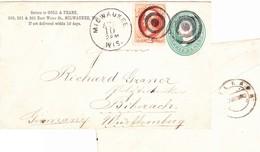 Milwaukee, Wis 1873, Brief Nach Biberach - 1847-99 Unionsausgaben