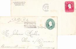 New York & Chicago 1897/1902, 2 Briefe - 1847-99 Unionsausgaben