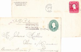 New York & Chicago 1897/1902, 2 Briefe - 1847-99 Emisiones Generales